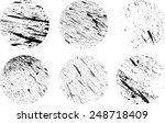 set of grunge rubber texture...   Shutterstock .eps vector #248718409