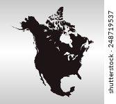 north america map | Shutterstock .eps vector #248719537