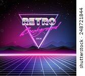 80s retro sci fi background | Shutterstock .eps vector #248721844