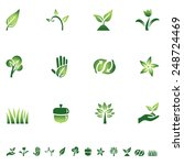 green eco icons   set of icons... | Shutterstock .eps vector #248724469