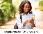 happy young african american... | Shutterstock . vector #248728171