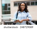 happy afro american college... | Shutterstock . vector #248729089