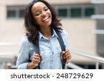 attractive african university...   Shutterstock . vector #248729629