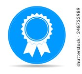 medallion icon. flat  | Shutterstock . vector #248732989