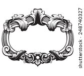 vintage baroque frame scroll... | Shutterstock .eps vector #248740327