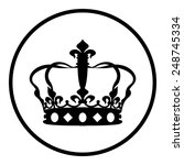 crown vector icon | Shutterstock .eps vector #248745334