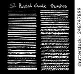 vector chalk brushes or lines.... | Shutterstock .eps vector #248747899