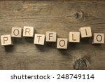 portfolio word in vintage... | Shutterstock . vector #248749114