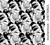 seamless vintage graphic floral ... | Shutterstock .eps vector #248750821