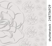 gray background with roses. cut ... | Shutterstock .eps vector #248756929