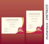 certificate vector template | Shutterstock .eps vector #248758255
