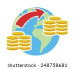 vector image of global map with ... | Shutterstock .eps vector #248758681