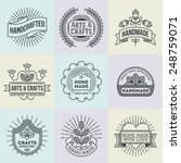 assorted retro design insignias ... | Shutterstock .eps vector #248759071