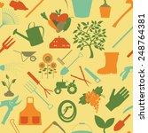 gardening background. seamless... | Shutterstock .eps vector #248764381