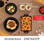 food illustration   italian... | Shutterstock .eps vector #248766559