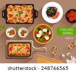 food illustration   italian... | Shutterstock .eps vector #248766565