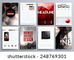 set of design templates for... | Shutterstock .eps vector #248769301