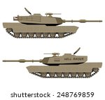 Постер, плакат: Vector Battle Tank