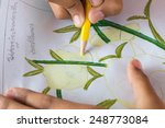 crayon drawing and copy space  | Shutterstock . vector #248773084