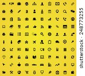 100 company icons  black on... | Shutterstock . vector #248773255