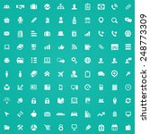 100 company icons  white on... | Shutterstock . vector #248773309