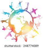 abstract sporting silhouettes... | Shutterstock .eps vector #248774089