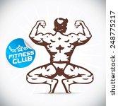 bodybuilder fitness model...   Shutterstock .eps vector #248775217