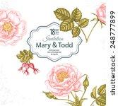 wedding invitation. vintage... | Shutterstock .eps vector #248777899