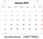 vector planning calendar ... | Shutterstock .eps vector #248779801