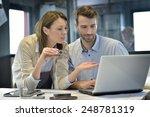 engineers in industrial sector... | Shutterstock . vector #248781319