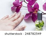 beautiful natural long nails on ... | Shutterstock . vector #248782549