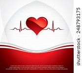 heart and heartbeat symbol...   Shutterstock .eps vector #248793175