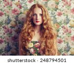 glamour portrait of beautiful... | Shutterstock . vector #248794501