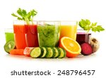 glasses with fresh organic... | Shutterstock . vector #248796457