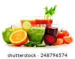 glasses with fresh organic... | Shutterstock . vector #248796574