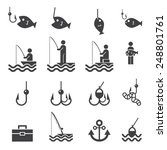 fishing icons | Shutterstock .eps vector #248801761