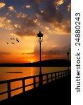 superb sunset on lake   Shutterstock . vector #24880243