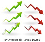 rising and falling arrows.... | Shutterstock .eps vector #248810251