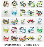 vector mega collection of line... | Shutterstock .eps vector #248811571