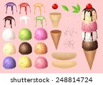 make ice cream by your design | Shutterstock .eps vector #248814724