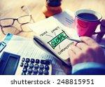 business global communications... | Shutterstock . vector #248815951