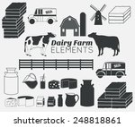 dairy farm elements  dairy...