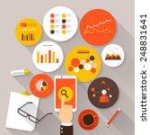 flat vector illustration of web ... | Shutterstock .eps vector #248831641