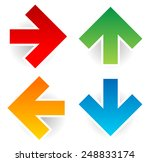 Colorful Arrows On White