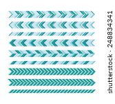 a set of simple geometric... | Shutterstock .eps vector #248834341