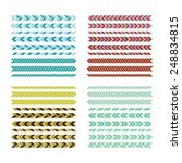 collection of vector borders... | Shutterstock .eps vector #248834815
