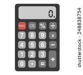 vector single flat calculator | Shutterstock .eps vector #248838754
