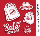 sale design elements | Shutterstock .eps vector #248839579