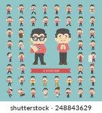 set of businessman character  ... | Shutterstock .eps vector #248843629