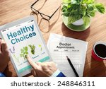 healthy choices herbal medicine ... | Shutterstock . vector #248846311